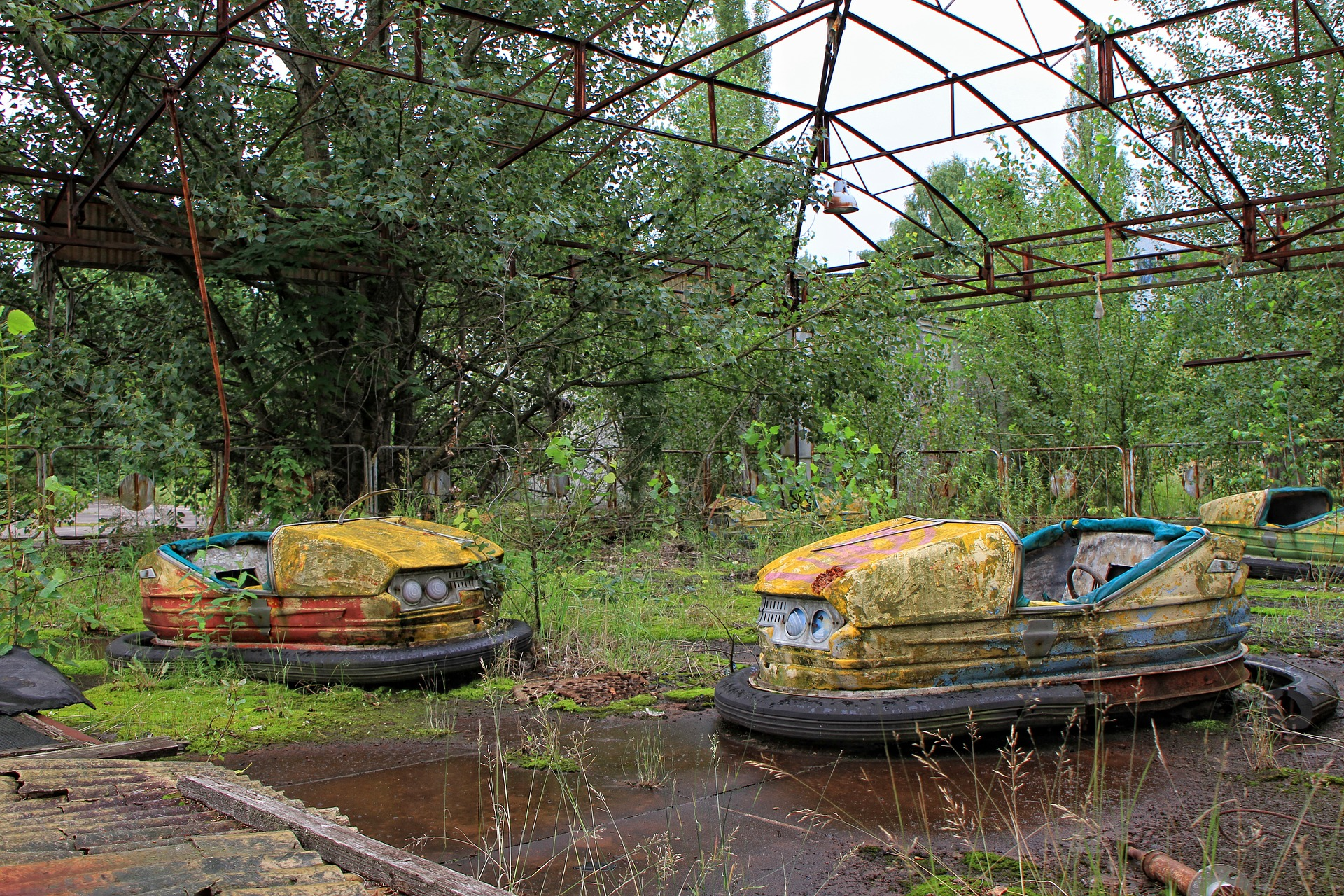Pripyat: busted bumper cars